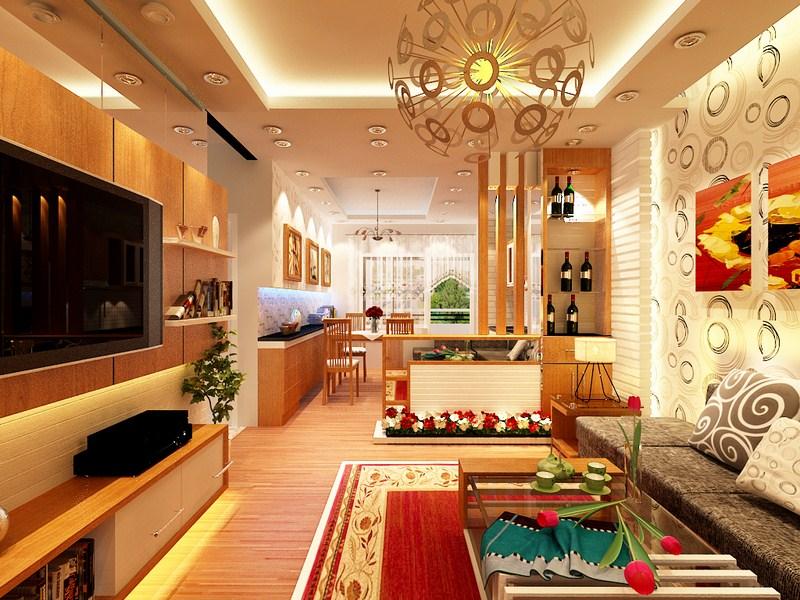 Nội thất đồ gỗ đẹp cho phòng khách sang trọng. 4