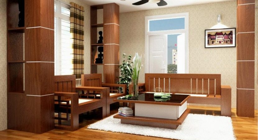 Nội thất đồ gỗ đẹp cho phòng khách sang trọng