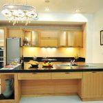 Thiết kế nội thất gỗ cho phòng bếp sạch sẽ