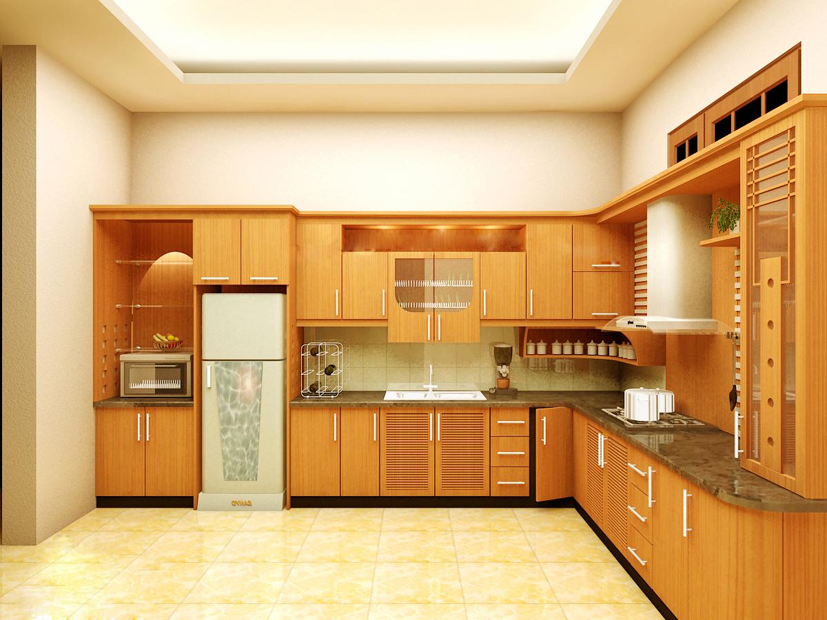 Thiết kế nội thất gỗ cho phòng bếp sạch sẽ. 4
