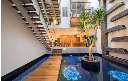 Ngôi nhà làm bằng gỗ có khả năng chống cháy. 2
