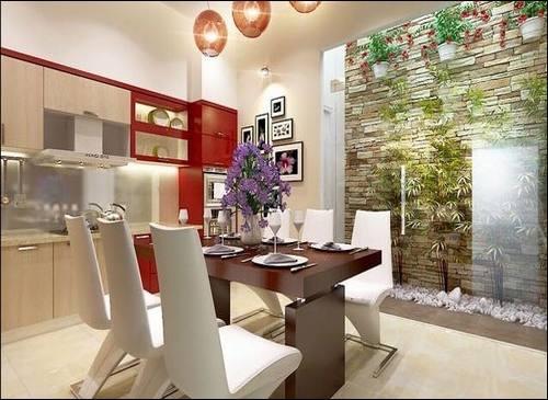 Thiết kế nội thất gỗ phòng bếp đẹp mê ly. 2