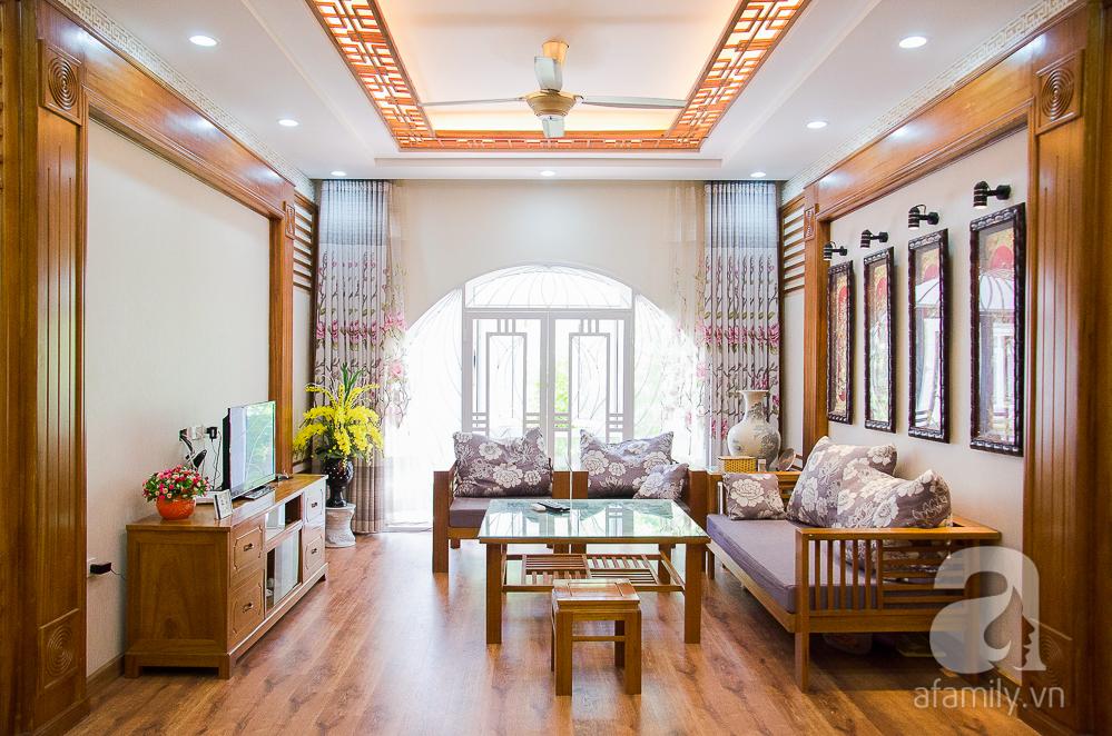 Thiết kế nhà ống đẹp với nội thất gỗ hiện đại. 4