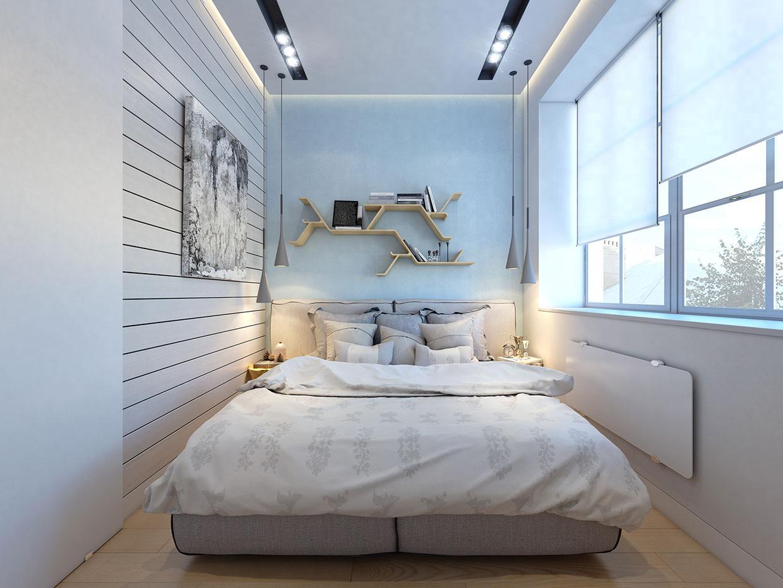 Thiết kế nội thất phòng ngủ màu Pastel đơn giản, sang trọng