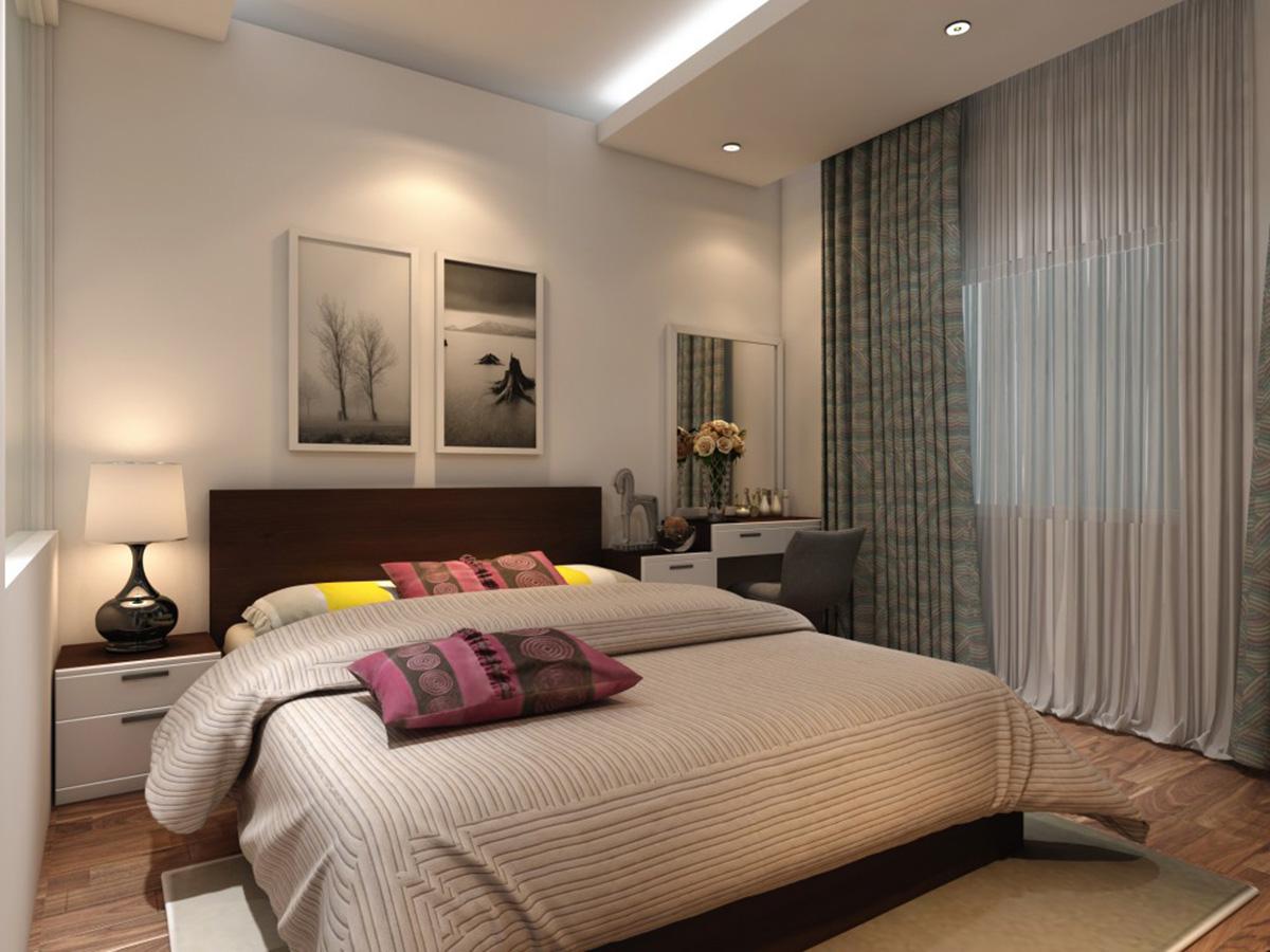 Thiết kế nội thất phòng ngủ màu be trung tính