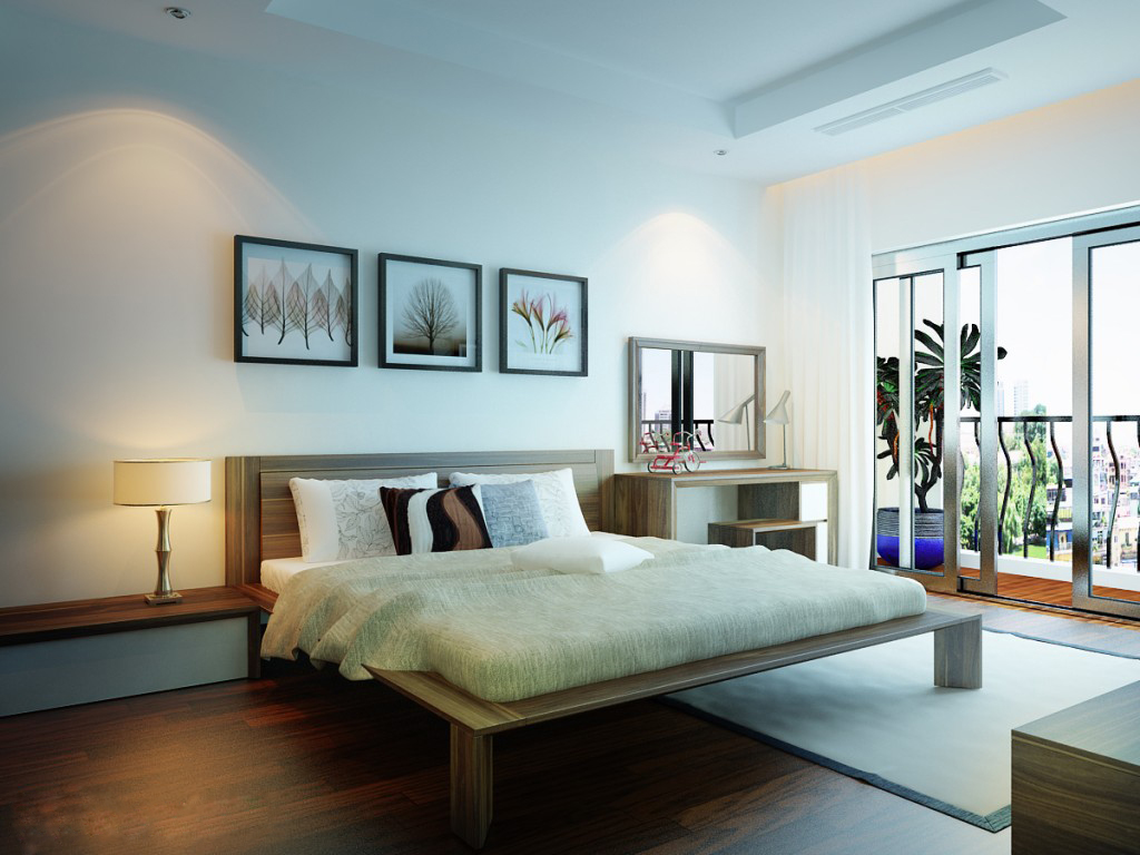 Thiết kế nội thất phòng ngủ thoáng rộng