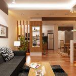 Thiết kế thi công nội thất phòng khách chất liệu gỗ