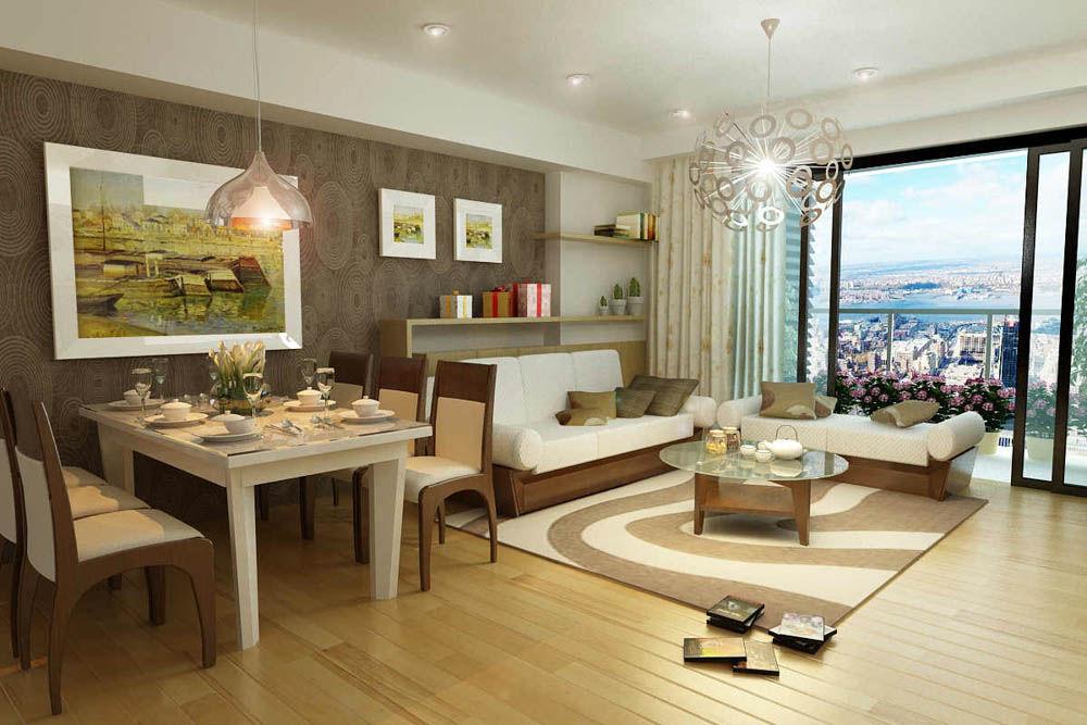 Trang trí nội thất chung cư với tranh in - Phòng ăn