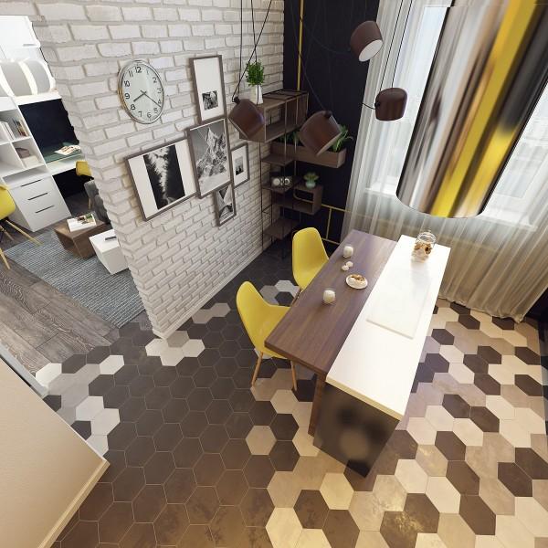 Trang trí nội thất chung cư với tranh in và điểm nhấn tương phản