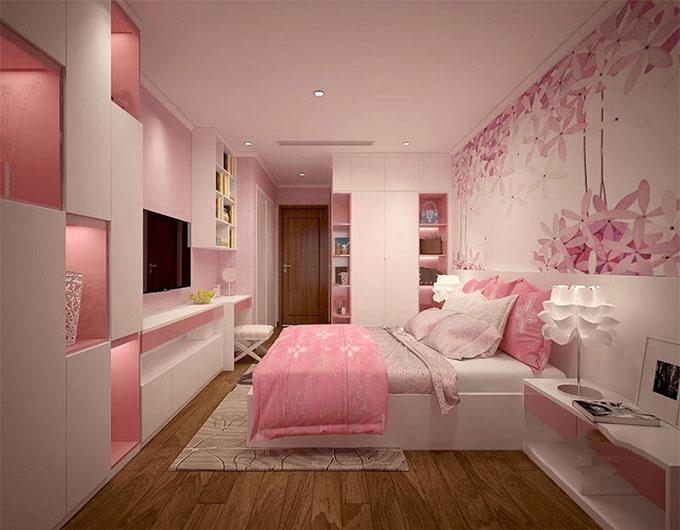 Phòng ngủ cho bé trẻ trung, đáng yêu - Thiết kế nội thất chung cư