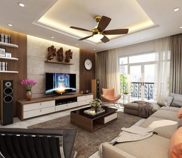 Thiết kế nội thất chung cư phòng khách sang trọng lịch lãm