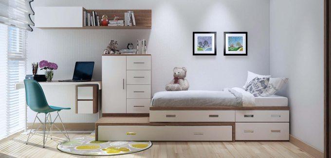Nội thất đa năng - Giường ngủ kết hợp bàn làm việc
