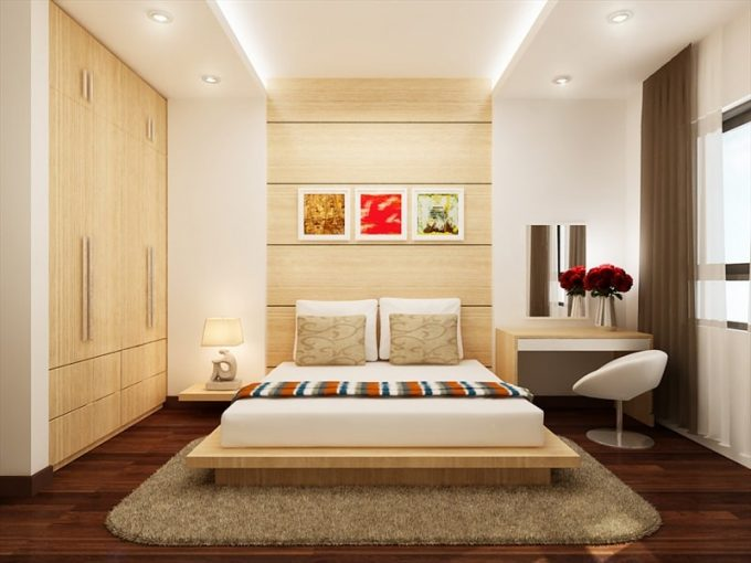 Thiết kế gỗ nội thất phòng ngủ nhà ống đẹp và tiện ích - 5
