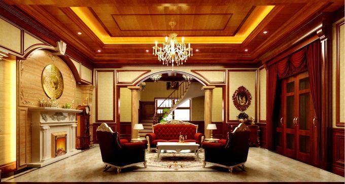 Thiết kế gỗ nội thất biệt thự - Nội thất phòng khách