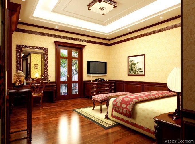 Thiết kế gỗ nội thất biệt thự - Nội thất phòng ngủ 2