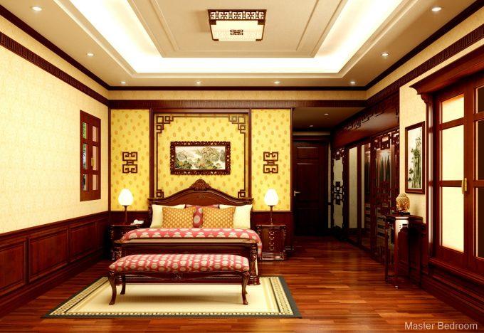 Thiết kế gỗ nội thất biệt thự - Nội thất phòng ngủ 1