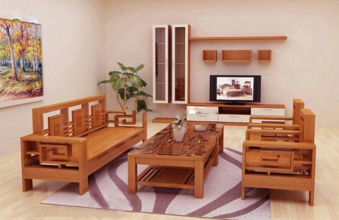 Thiết kế gỗ nội thất đẹp cho phòng khách nhà phố - 3