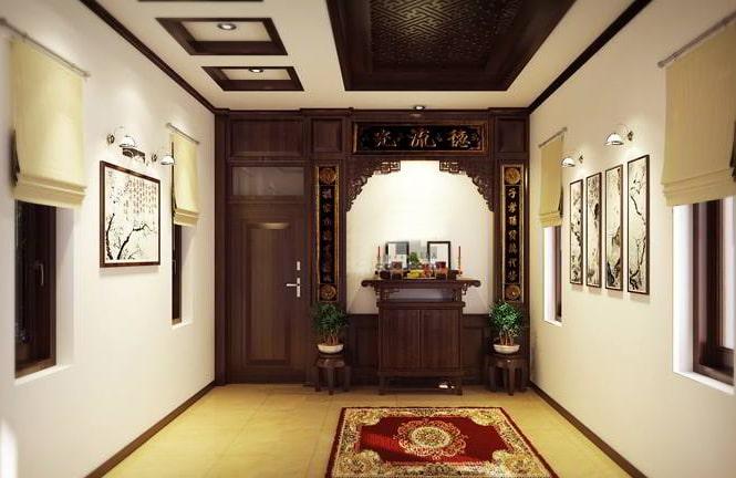Thiết kế gỗ nội thất giá rẻ cho phòng thờ nhà ống - 1