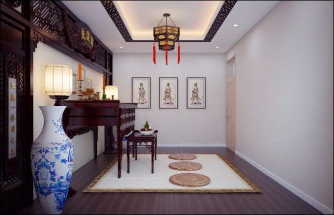 Thiết kế gỗ nội thất giá rẻ cho phòng thờ nhà ống - 2