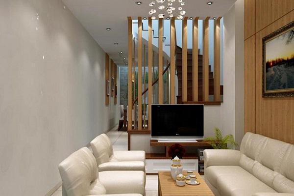 Thiết kế gỗ nội thất giá rẻ và cách sắp xếp cho phòng khách nhà ống - 1