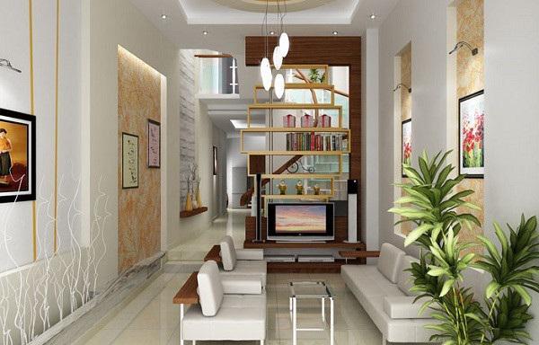 Thiết kế gỗ nội thất giá rẻ và cách sắp xếp cho phòng khách nhà ống - 2