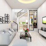 Thiết kế gỗ nội thất và cách sắp xếp cho phòng khách nhà ống