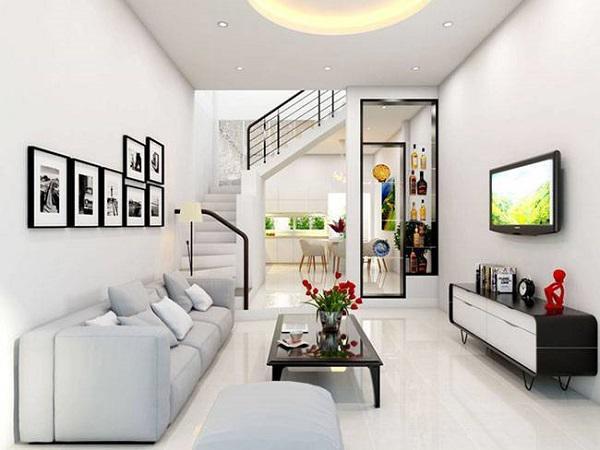 Thiết kế gỗ nội thất và cách sắp xếp cho phòng khách nhà ống - 5