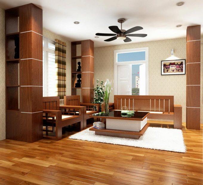 Thiết kế gỗ nội thất giá rẻ cho nhà phố hiện đại - 1
