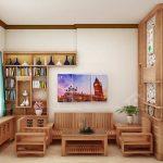 Thiết kế gỗ nội thất giá rẻ cho nhà phố hiện đại