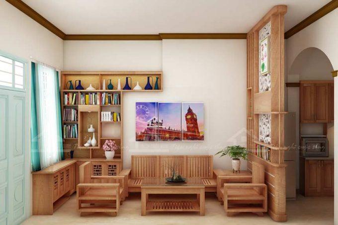 Thiết kế gỗ nội thất giá rẻ cho nhà phố hiện đại - 2