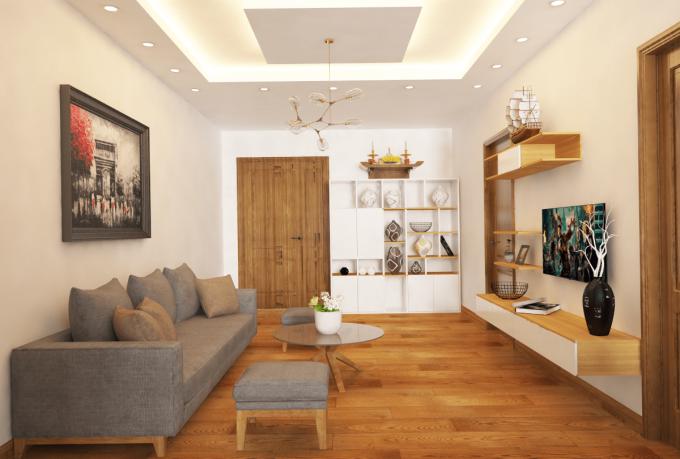 Thiết kế gỗ nội thất giá rẻ cho nhà phố hiện đại - 3