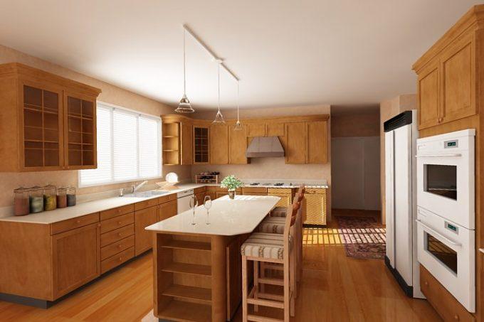 Thiết kế gỗ nội thất phòng bếp nhà ống hiện đại 3tiện nghi - 2