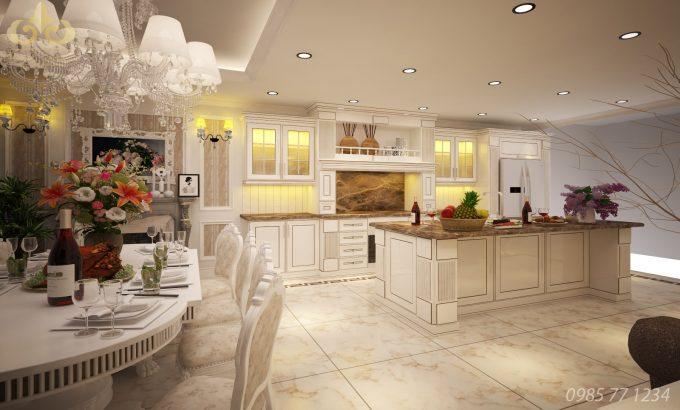 Thiết kế gỗ nội thất phòng bếp nhà ống hiện đại 3tiện nghi - 3Thiết kế gỗ nội thất phòng bếp nhà ống hiện đại 3tiện nghi - 3