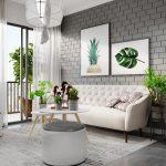 Thiết kế gỗ nội thất hai màu xám trắng ấn tượng