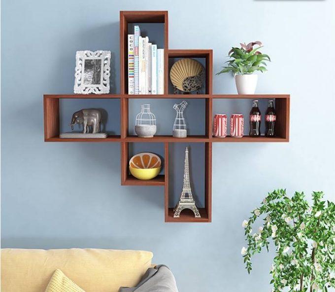 Thiết kế kệ gỗ nội thất giá rẻ treo tường cho không gian đọc sách - 2