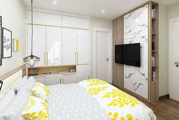 Thiết kế nội thất chung cư đẹp - Phòng ngủ bố mẹ 2