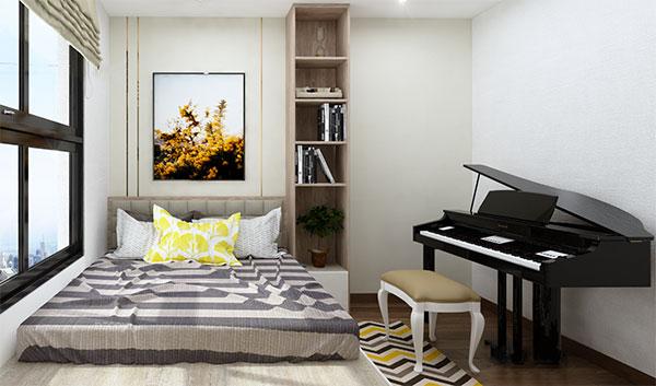 Thiết kế nội thất chung cư đẹp - Phòng ngủ con 1