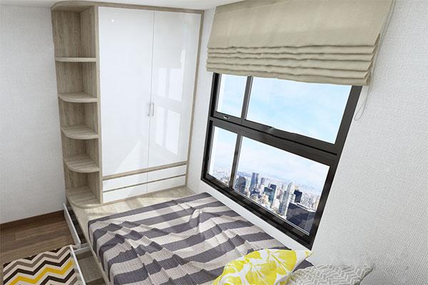 Thiết kế nội thất chung cư đẹp - Phòng ngủ con 2