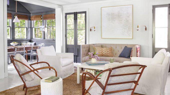 Thiết kế nội thất nhà chất liệu gỗ tự nhiên - Phòng khách