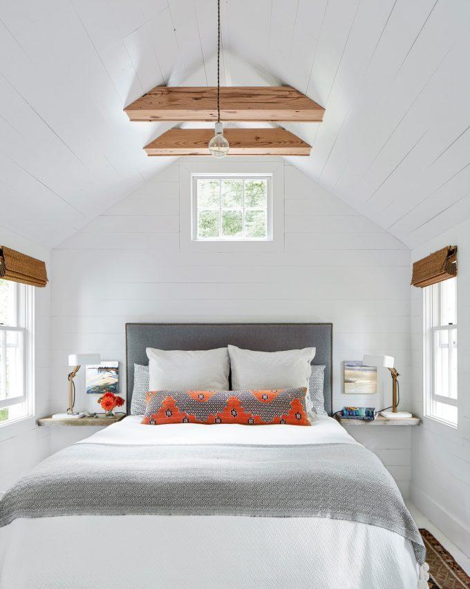 Thiết kế nội thất nhà chất liệu gỗ tự nhiên - Phòng ngủ chính