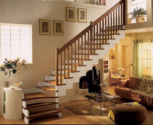 Thi công gỗ nội thất giá rẻ cho cầu thang nhà ống - 3