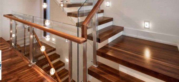 Thi công gỗ nội thất giá rẻ cho cầu thang nhà ống - 1