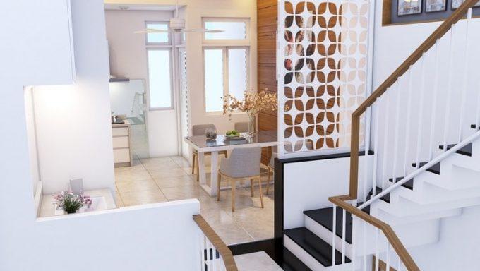 Thiết kế gỗ nội thất cầu thang cho nhà ống hợp phong thủy - 3