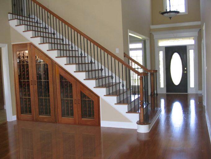 Thiết kế gỗ nội thất cầu thang cho nhà ống hợp phong thủy - 4