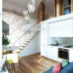 Thiết kế gỗ nội thất cầu thang cho nhà ống hợp phong thủy