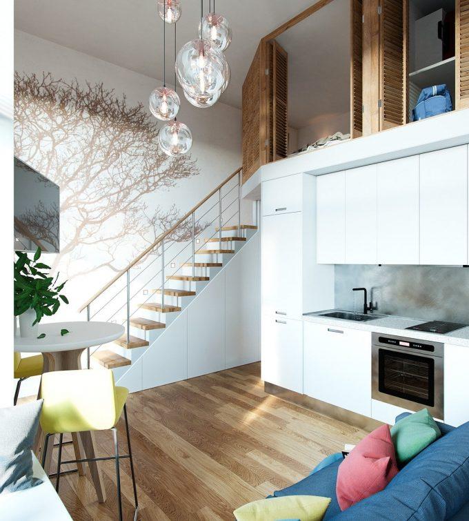 Thiết kế gỗ nội thất cầu thang cho nhà ống hợp phong thủy - 6