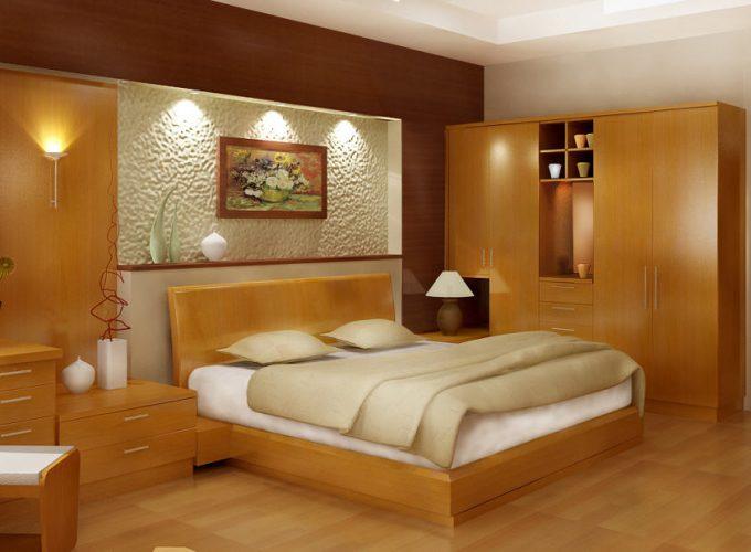 Thiết kế gỗ nội thất giường cưới 1m8 cho cặp vợ chồng trẻ - 1