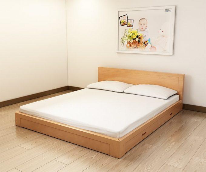 Thiết kế gỗ nội thất giường cưới 1m8 cho cặp vợ chồng trẻ - 3
