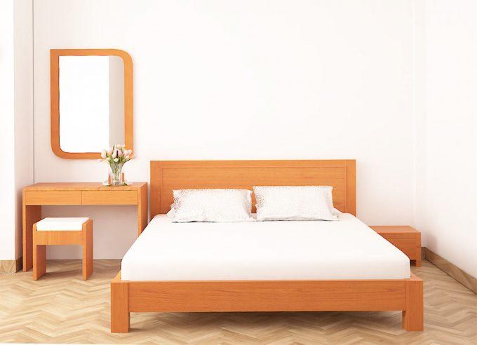 Thiết kế gỗ nội thất giường cưới 1m8 cho cặp vợ chồng trẻ - 4