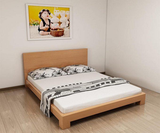 Thiết kế gỗ nội thất giường cưới 1m8 cho cặp vợ chồng trẻ - 5